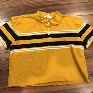 Cropped yellow tee